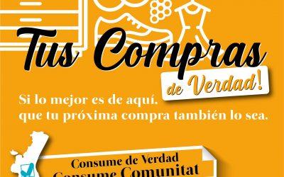 #ConsumeComunitat campaña para movilizar las compras y el consumo de productos valencianos para Comerç Moble
