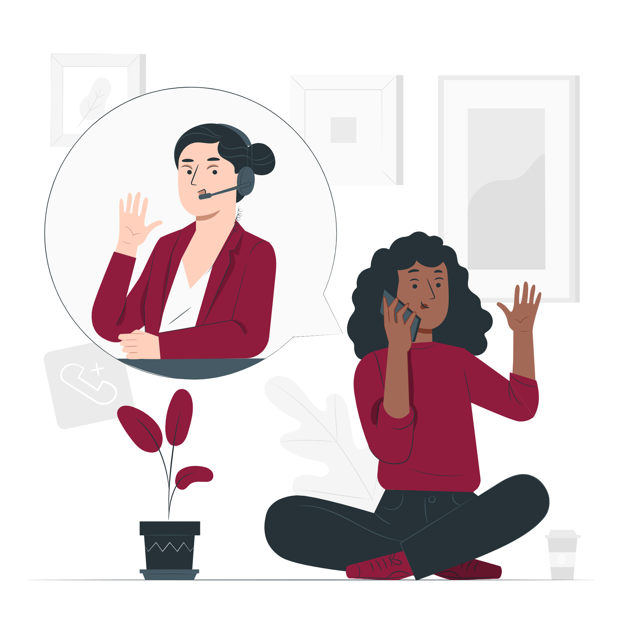 Call-center-vector