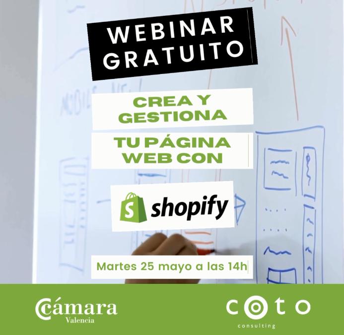 Webinar: Gestiona tu página web con Shopify-25/05/2021